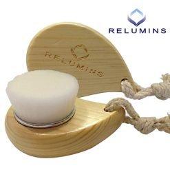 Relumins Deep Pore Wooden Facial Cleansing Brush with Super Soft Antibacterial Microfibers