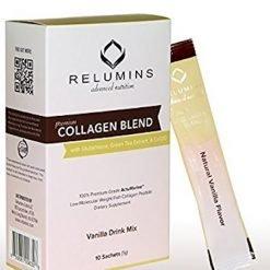 Relumins Premium Collagen blend drink in Vanilla flavor 10sachets