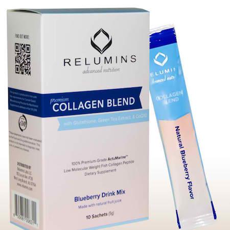Relumins Collagen Blend drink blueberry flavor 10 sachets
