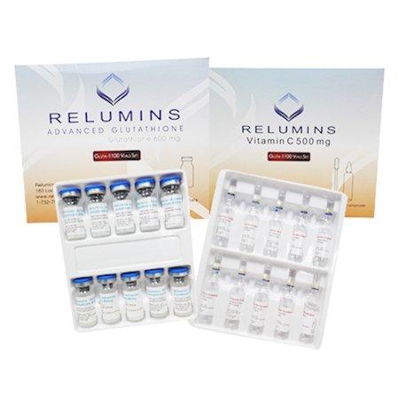 authentic relumins1100mg glutathione iv philippines skin whitening