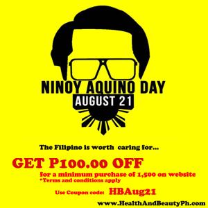Ninoy Aquino Holiday Online shopping coupon