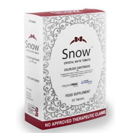 Snow Crystal white tomato glutathione whitening 30 tablets Snowcaps