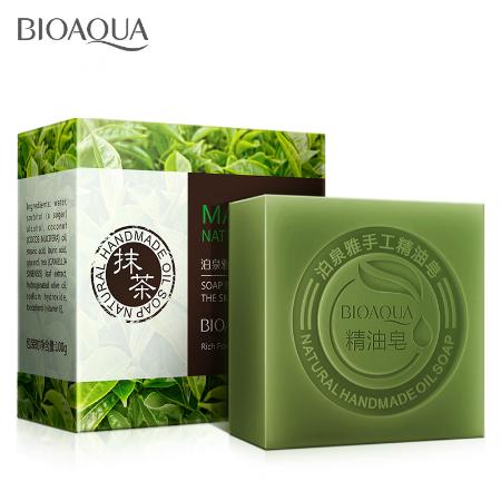 Bioaqua natural whitening soap Greentea matcha