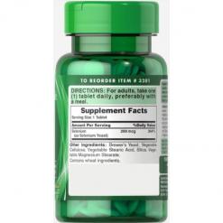 Puritan-Pride-High-Potency-Selenium-200mcg-100-Tablets-Supplement-Facts