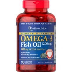 Puritans Pride Fish Omega 3 Double Strength 1200mg 90 Softgels Relumins Philippines