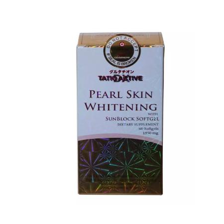 TatioActive Pearl Skin Whitening 1850mg Anti-aging with sunblock 60 softgels Reluminsshopee