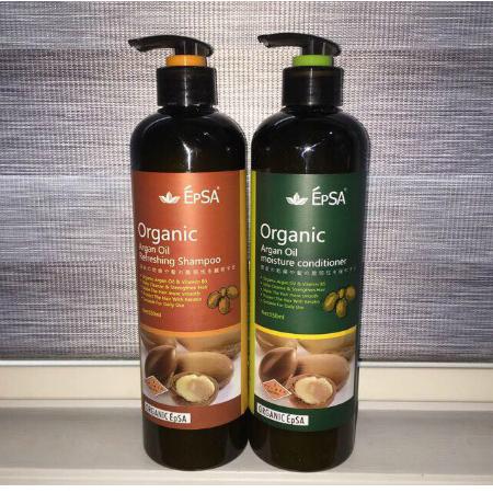 Epsa Organic Argan Oil Hair Shampoo Conditioner Set Relumins Philippines