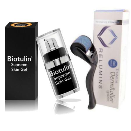 BIOTULIN Organic Botox Supreme Skin Gel 15ml + Relumins DermRoller