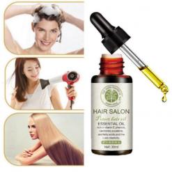 Hair Salon Moroccan Vitamins essential Organic oil for Damaged hair Hair loss and Frizzy hair 30ml-3