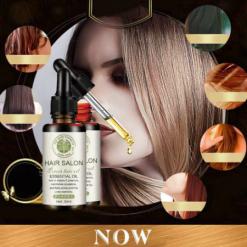 Hair Salon Moroccan Vitamins essential Organic oil for Damaged hair Hair loss and Frizzy hair 30ml-4