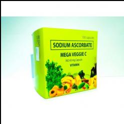 MEGA-Veggie-Vitamin-C-562.43mg-Sodium-Ascorbate-100-capsules-FDA