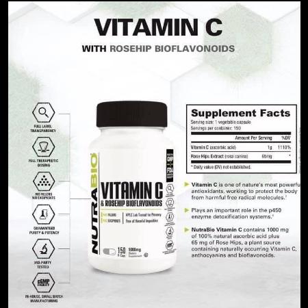 Authentic-NUTRABIO-Vitamin-C-1000mg-Rosehips-And-Bioflavonoids-Veg-Capsules