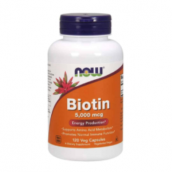 Authentic-Now-Foods-BIOTIN-5000mcg-Hair-Skin-120-Capsules