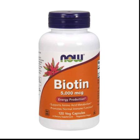 Authentic-Now-Foods-BIOTIN-5000mcg-Hair-Skin-120-Capsules