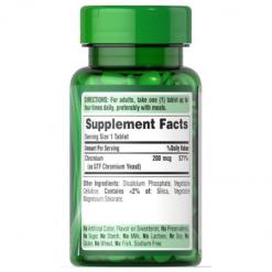 Authentic-Puritans-Pride-GTF-Chromium-Glucose-Tolerance-200-mcg-100-Tablets -Supplement-Facts