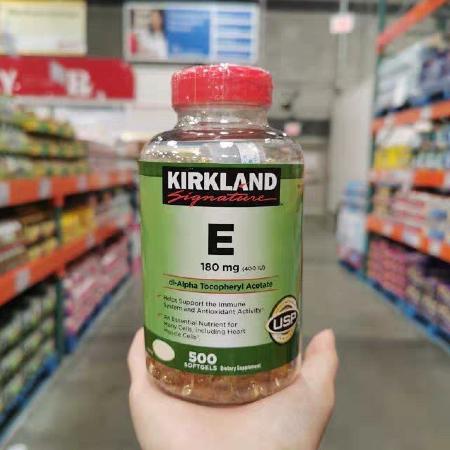 Kirkland-Signature-E-180mg-400iu-Dl-Alpha-Tocopheryl-Acetate-500sg-Anti-Oxidant-Expiration-Date-Quality-Immunity-Supplement-Facts-Heart-Muscles-Bones