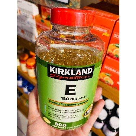 Kirkland-Signature-E-180mg-400iu-Dl-Alpha-Tocopheryl-Acetate-500sg-Anti-Oxidant-Expiration-Date-Quality-Immunity
