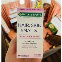 Natures-Bounty-Optimal-Solutions-Hair-Skin-Nails-3000mcg-60-Caplets-Biotin-Healthy-Beauty