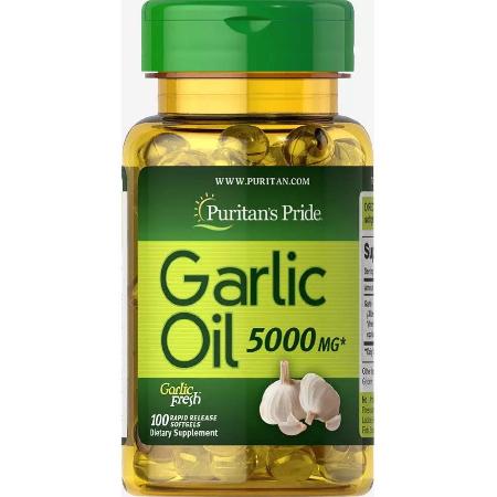 Puritans-Pride-Garlic-Oil-5000mg-100-Softgels