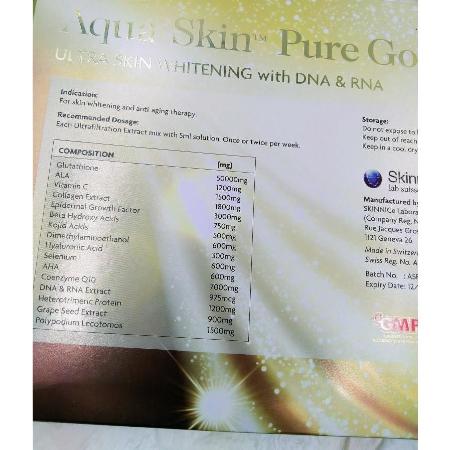 Aqua-Skin-Pure-Gold-Pro-Ultra-Skin-Whitening-Glowing-Glutthione-30vials-Anti-Aging-Made-In-Switzerland-Ingredients