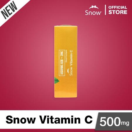 Snow-vitamin-C-500mg-30-Capsules-Supplement-Facts-Ascorbic-Acid-Zinc
