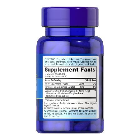 Puritans-Pride-Glucosamine-Chondroitin-Complex-120-Capsules-Joint-Bones-Supplements