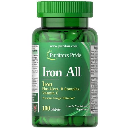 Puritans-Pride-Iron-All-B-Complex-100-Tablets