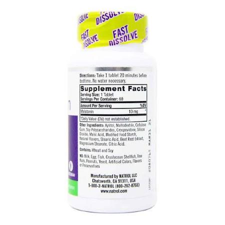 Natrol-Melatonin-10mg-Citrus-Flavor-60-Tablets-Supplement-Facts