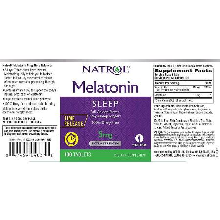 Natrol-Melatonin-5mg-Time-Release-100-Tablets-Supplement-Facts-Sleeping-Supplements